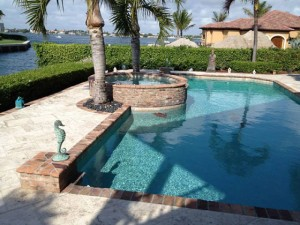 Travertine Marble Pool Patio