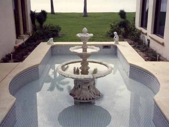Marble Mosaic Water Feature