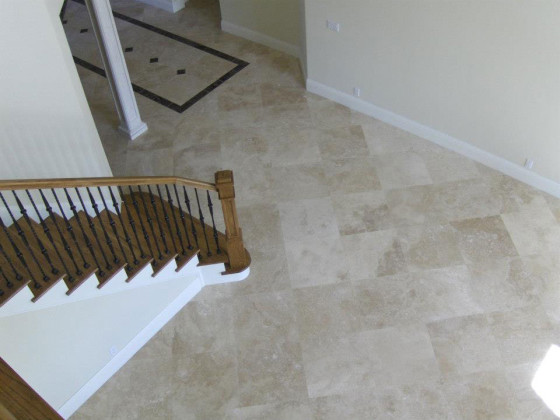 Travertine Marble Floor