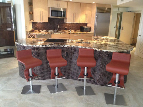 Kitchen Island and Backsplash