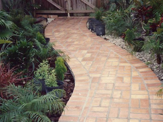 custom walkway paver installation